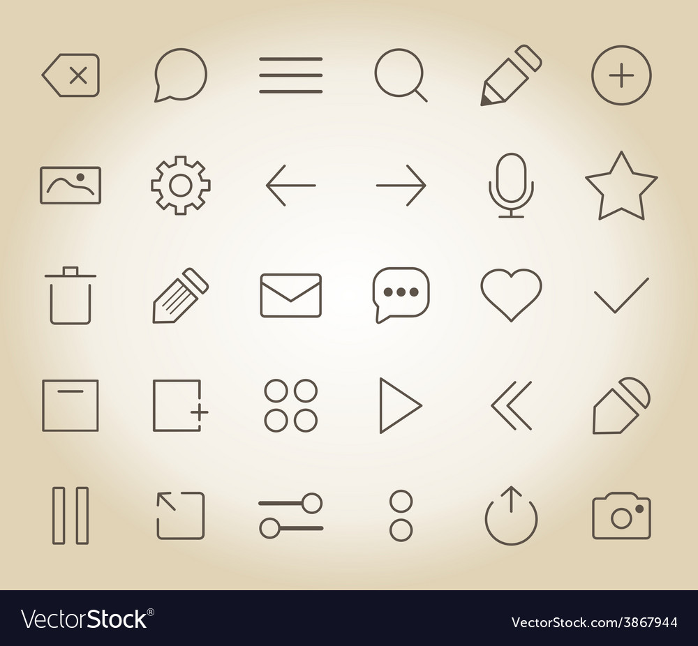 Web outline icon2 vector