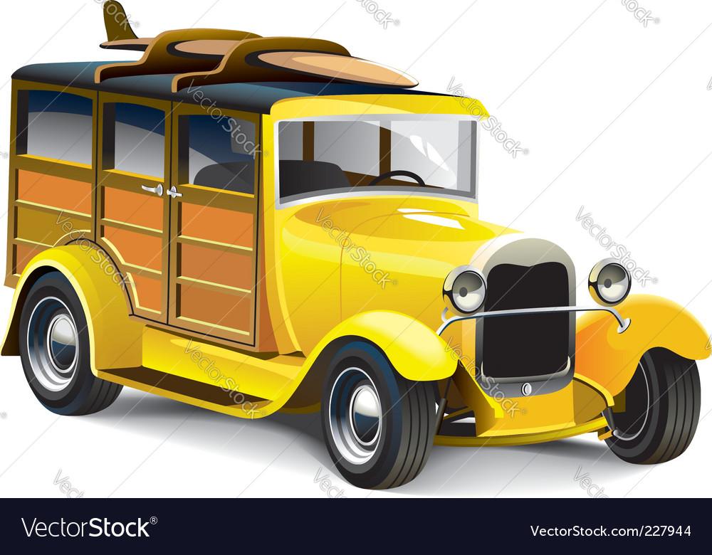 Yellow hot rod vector | Price: 5 Credit (USD $5)
