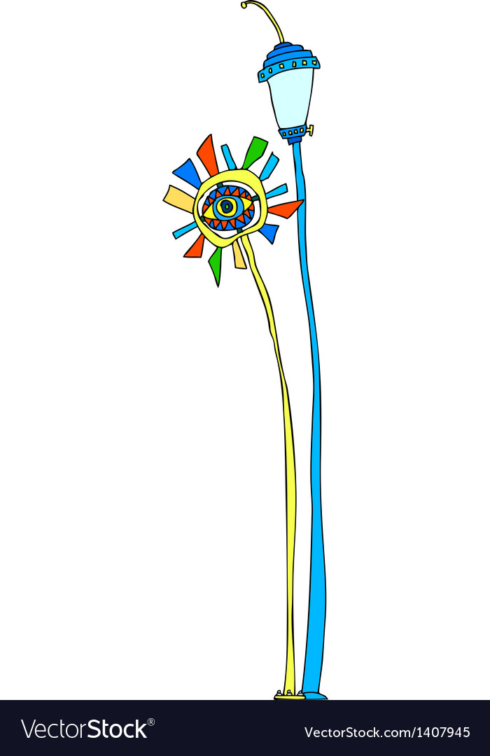 A street light stand on vector | Price: 1 Credit (USD $1)