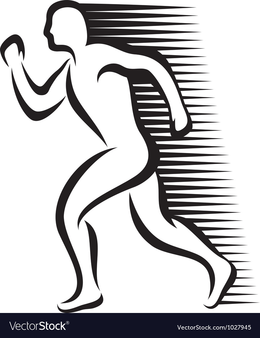 Abstract runner vector   Price: 1 Credit (USD $1)