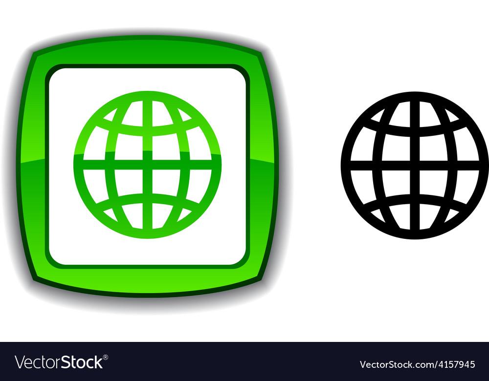 Earth button vector   Price: 1 Credit (USD $1)