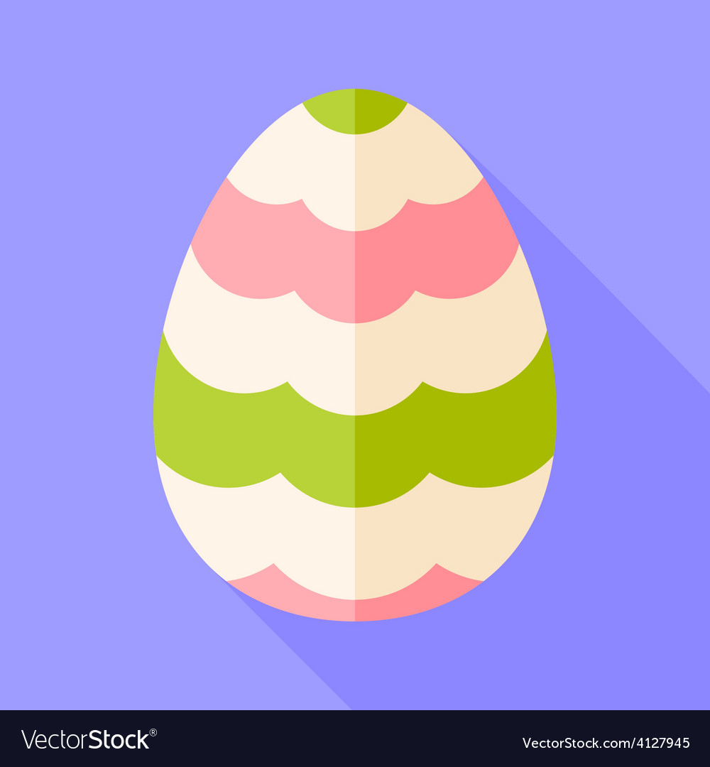 Easter egg with decor vector | Price: 1 Credit (USD $1)