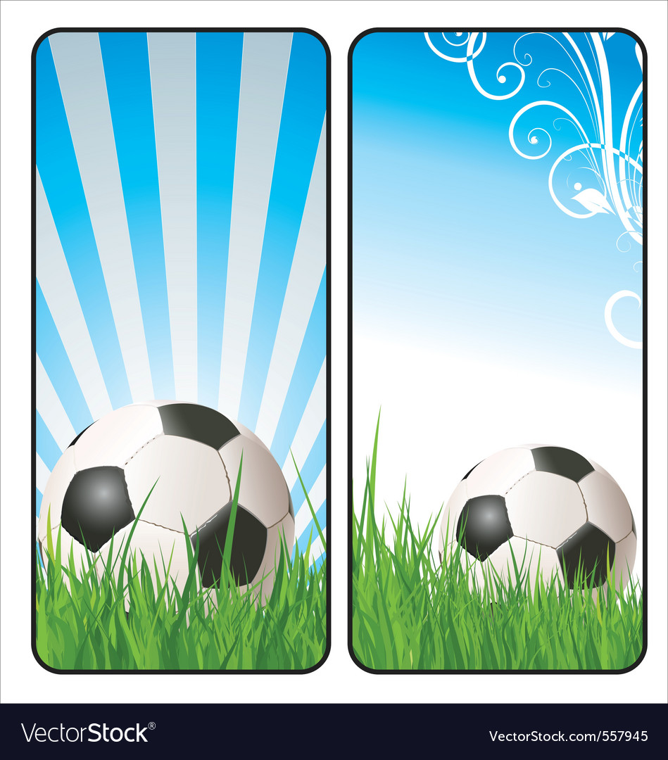 Football banners vector | Price: 1 Credit (USD $1)