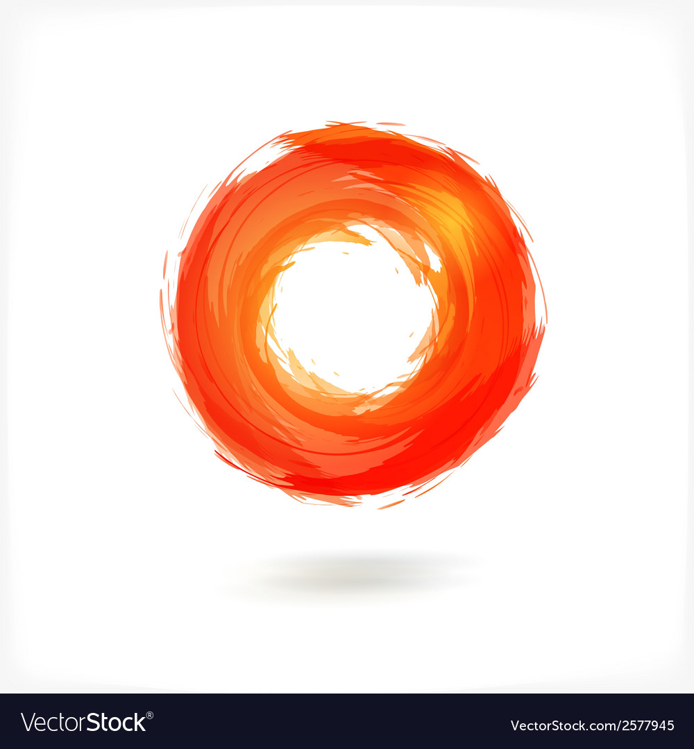 Red business abstract circle icon vector | Price: 1 Credit (USD $1)