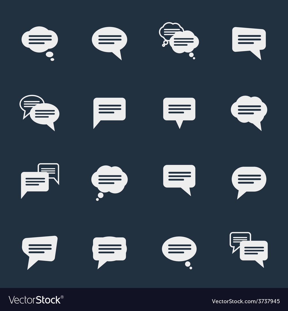 Simple speech bubble icons vector | Price: 1 Credit (USD $1)