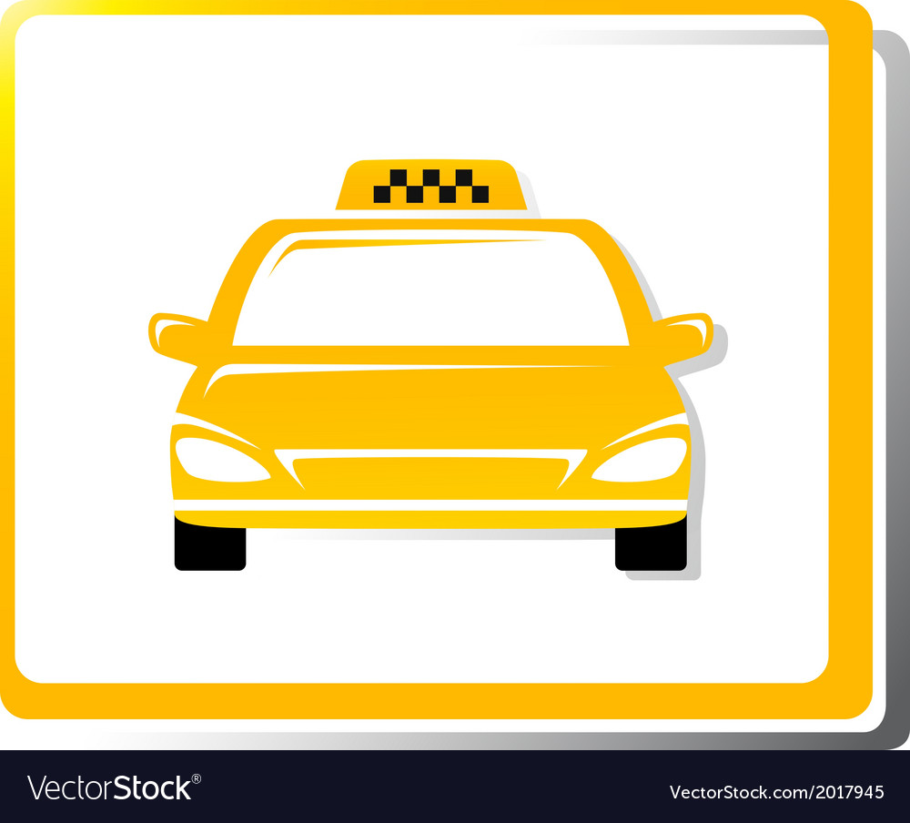 Taxi car image vector | Price: 1 Credit (USD $1)