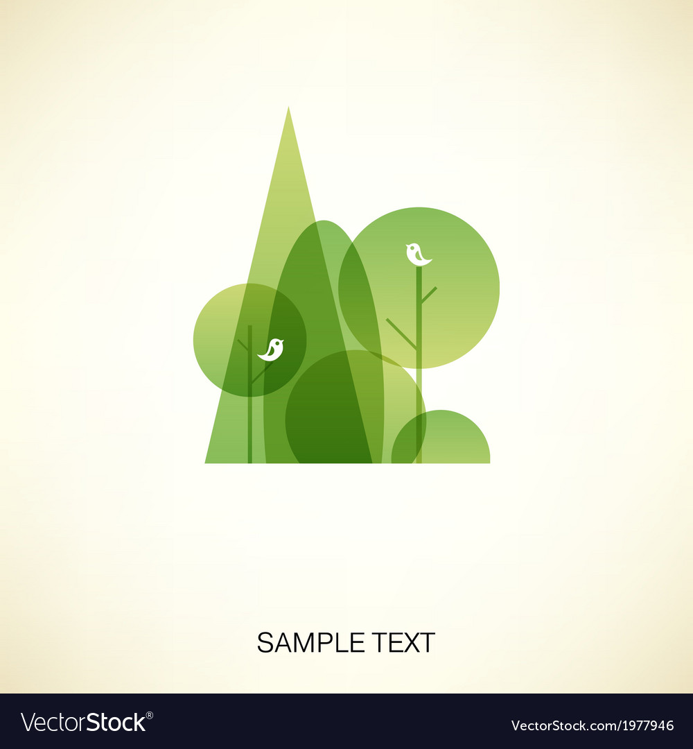 Abstract forest vector | Price: 1 Credit (USD $1)