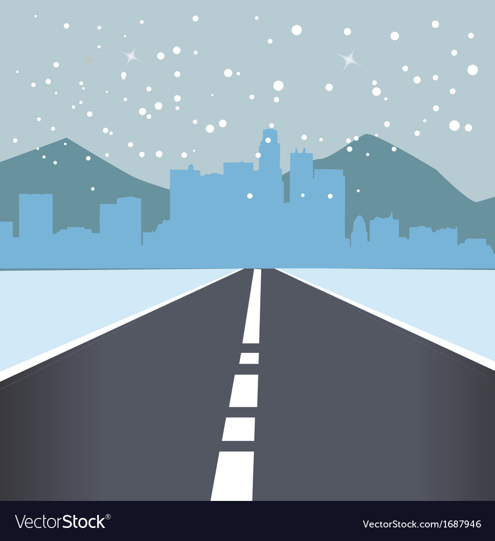 City landscape with snow vector   Price: 1 Credit (USD $1)