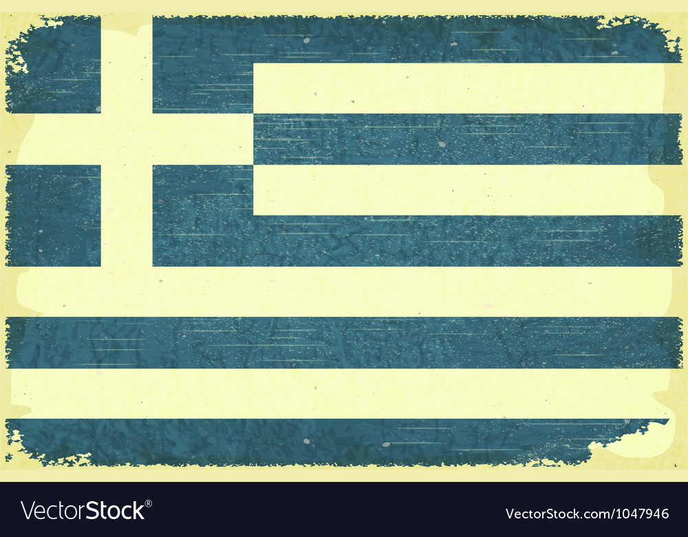 Greek flag vector | Price: 1 Credit (USD $1)