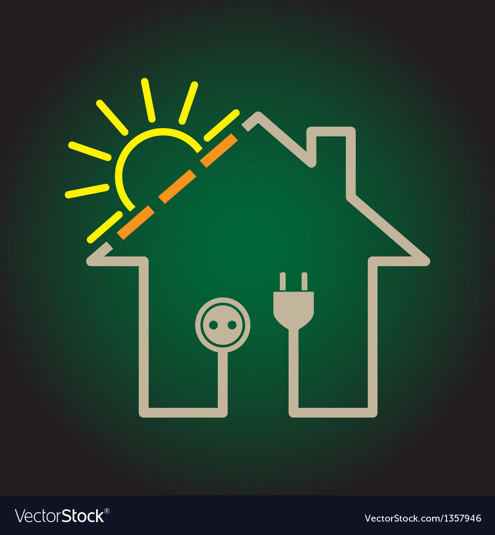 House solar circuit vector | Price: 1 Credit (USD $1)