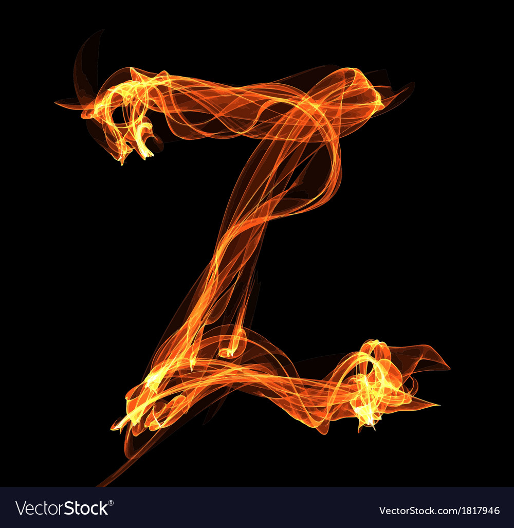 Letter in fire vector   Price: 1 Credit (USD $1)