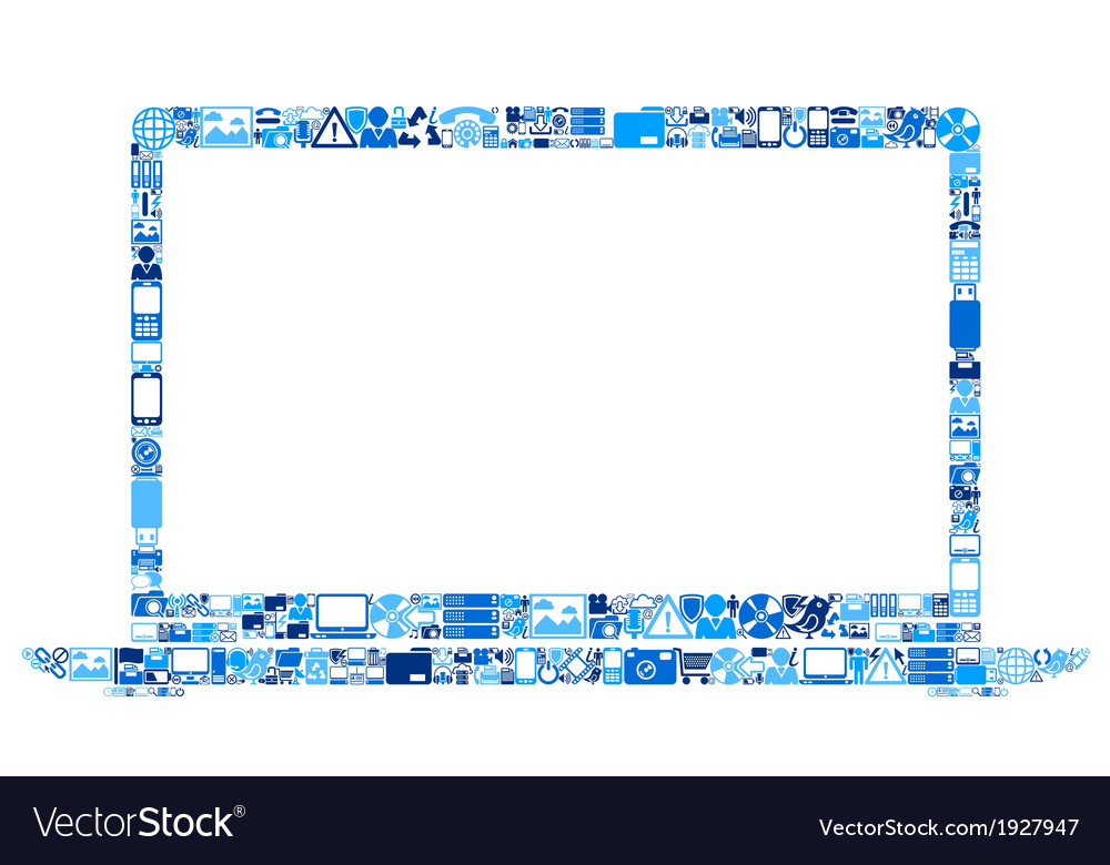 Abstract laptop vector | Price: 1 Credit (USD $1)