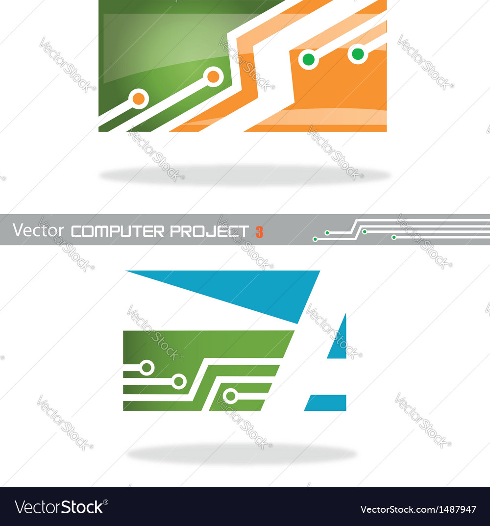 Computer project 3 vector | Price: 1 Credit (USD $1)