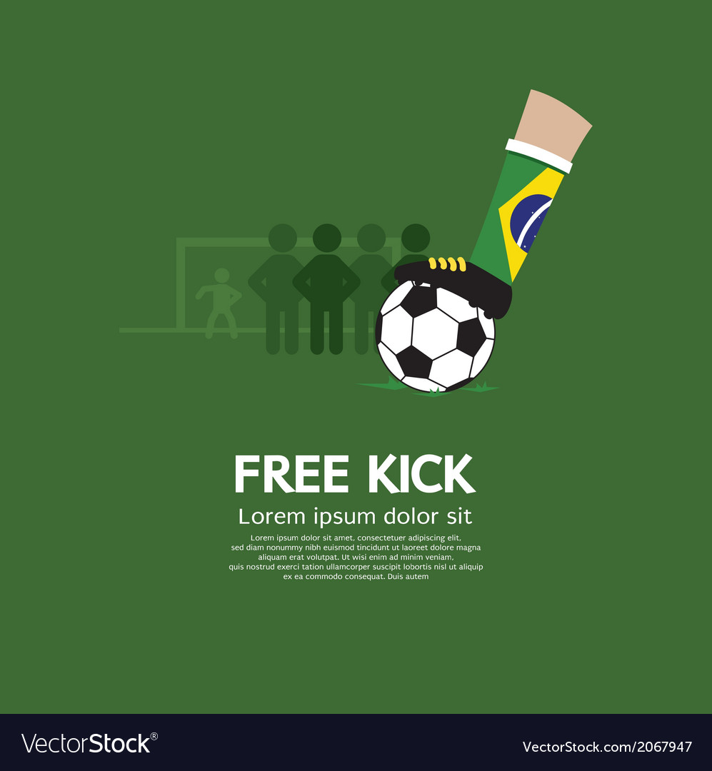 Free kick vector | Price: 1 Credit (USD $1)