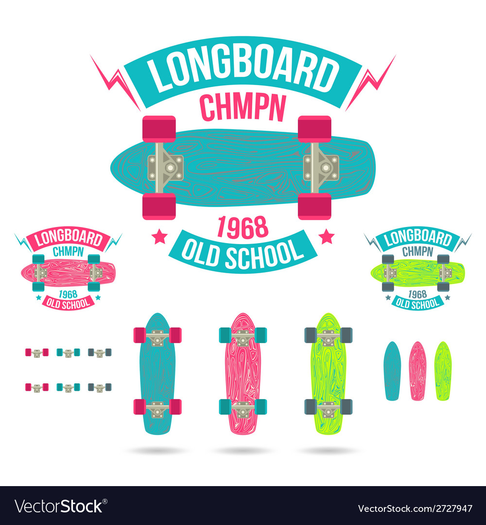 Longboard emblem vector | Price: 1 Credit (USD $1)