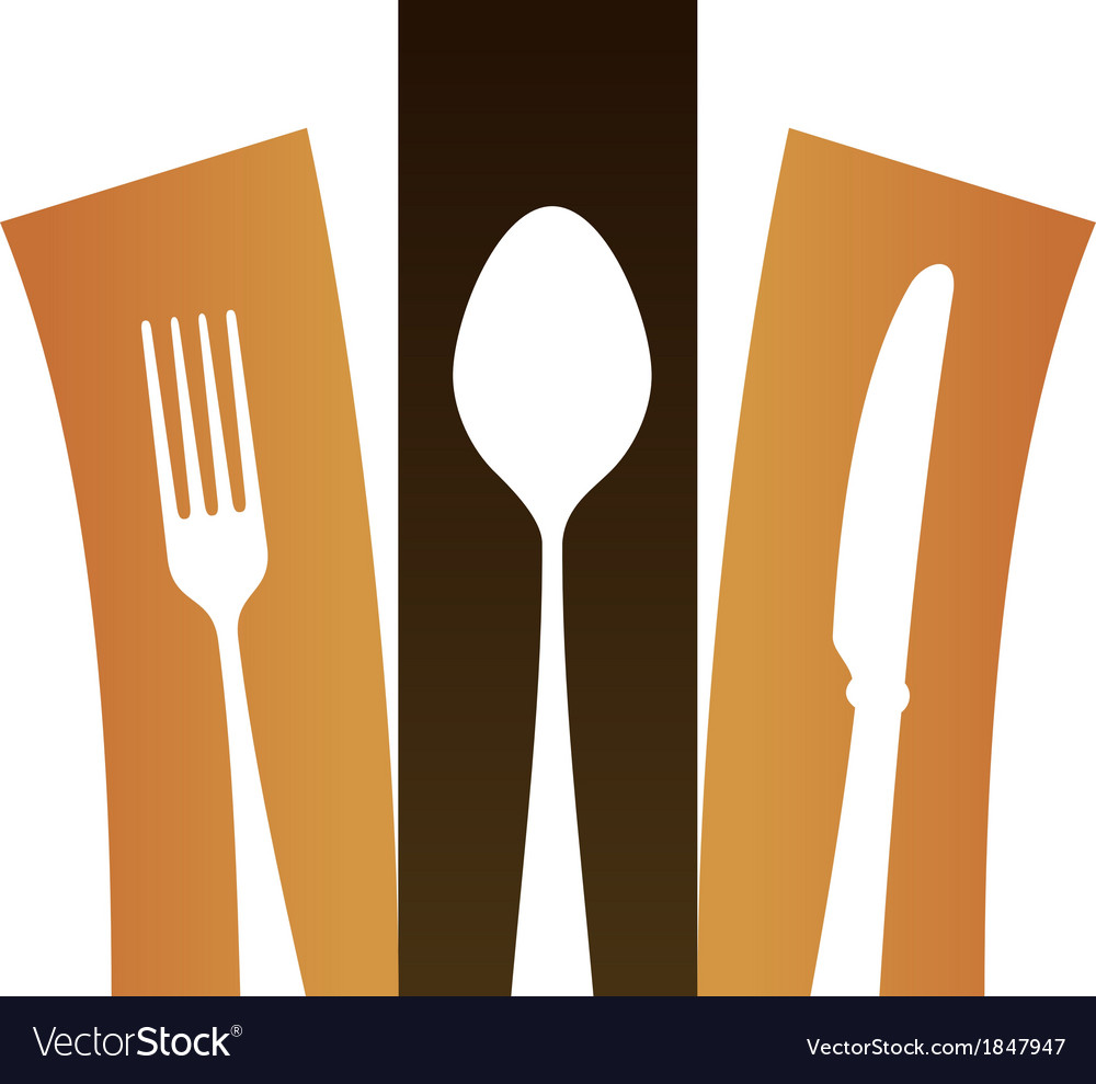 Modern cutlery symbol vector | Price: 1 Credit (USD $1)