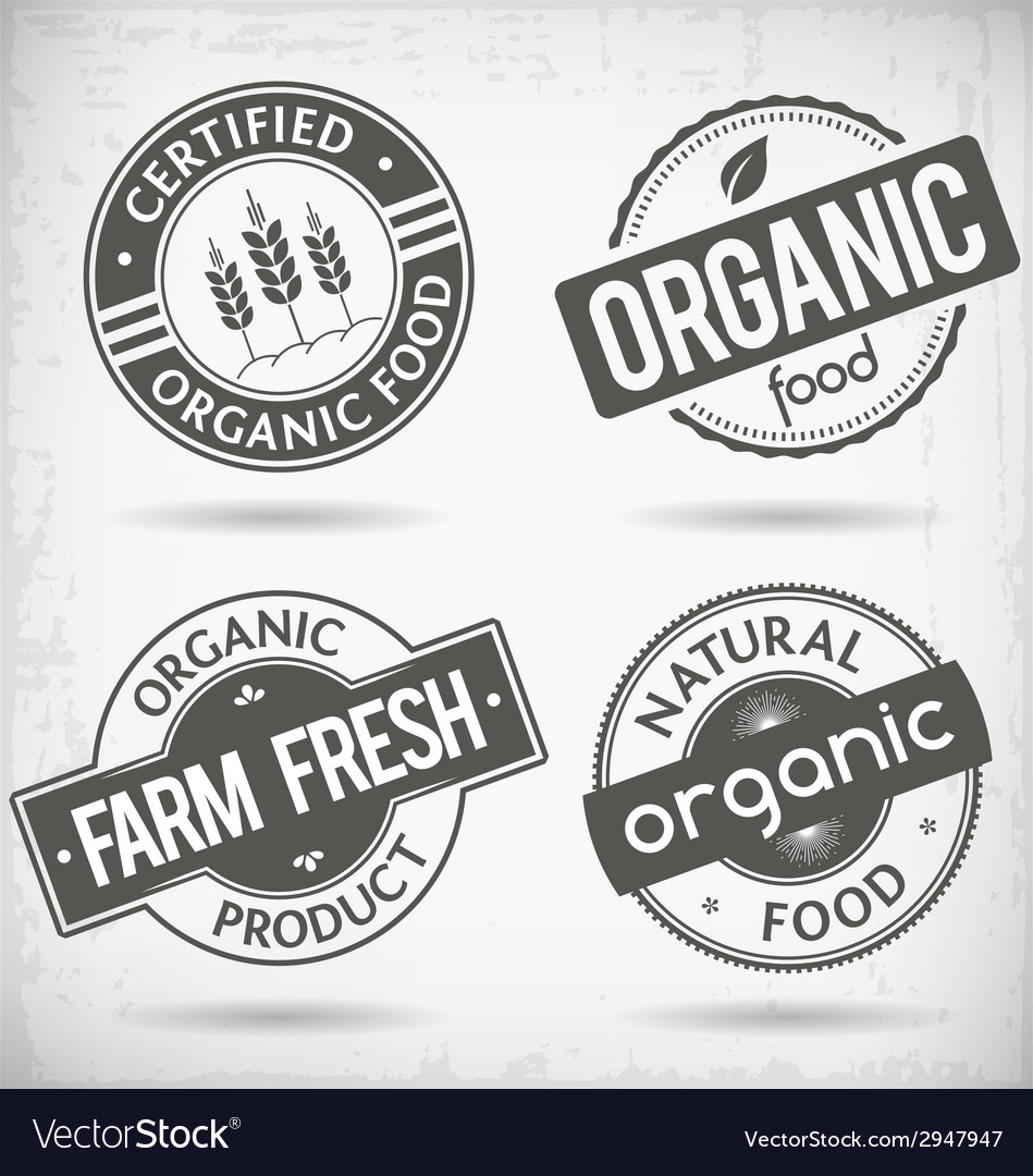 Organic labels vector | Price: 1 Credit (USD $1)