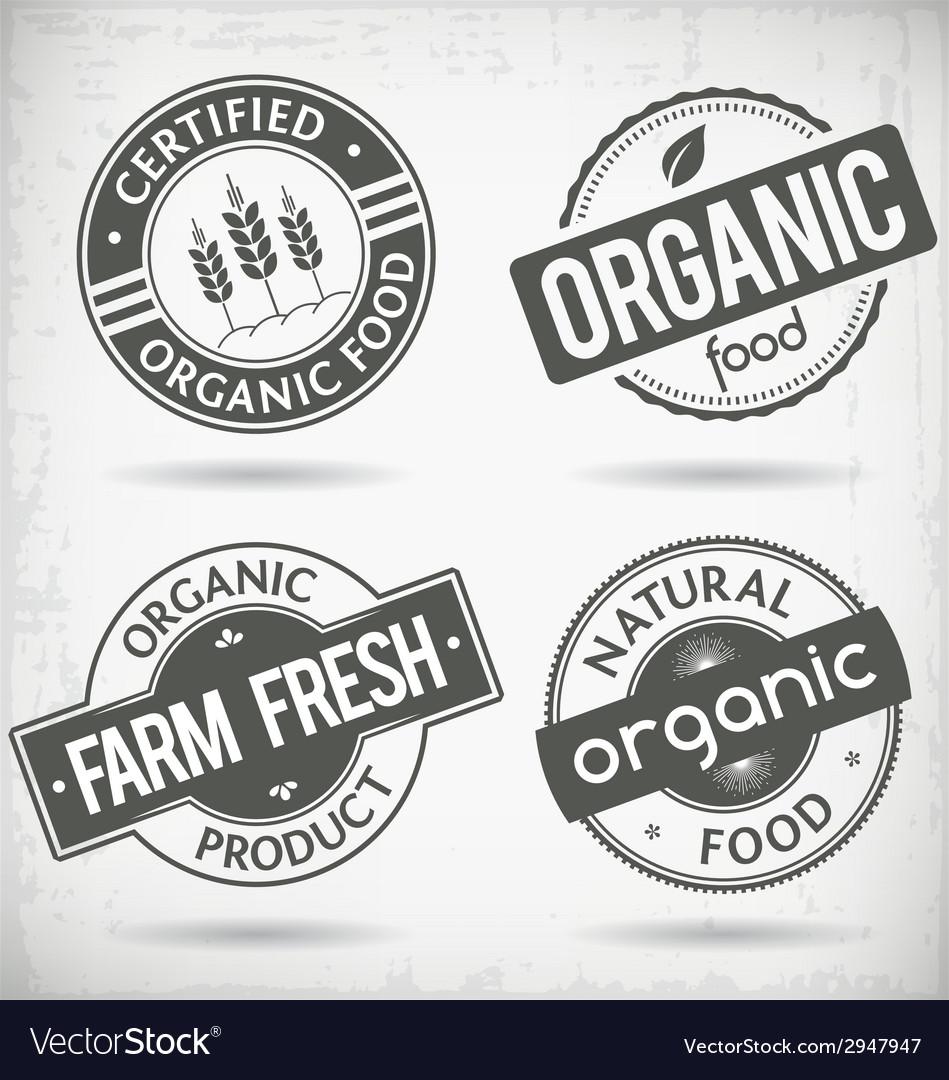 Organic labels vector | Price: 1 Credit (USD $1)