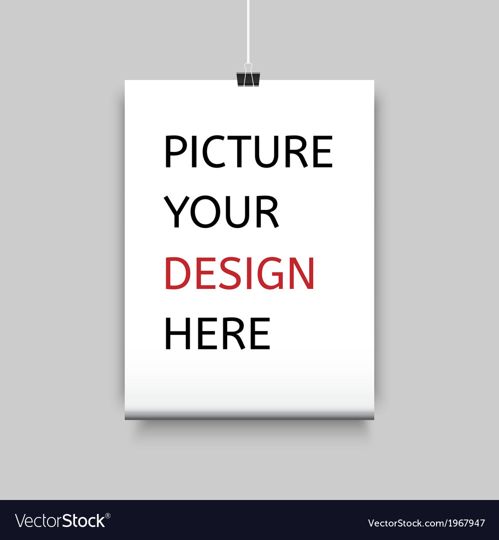 Sheet of paper on clamp for your design vector | Price: 1 Credit (USD $1)