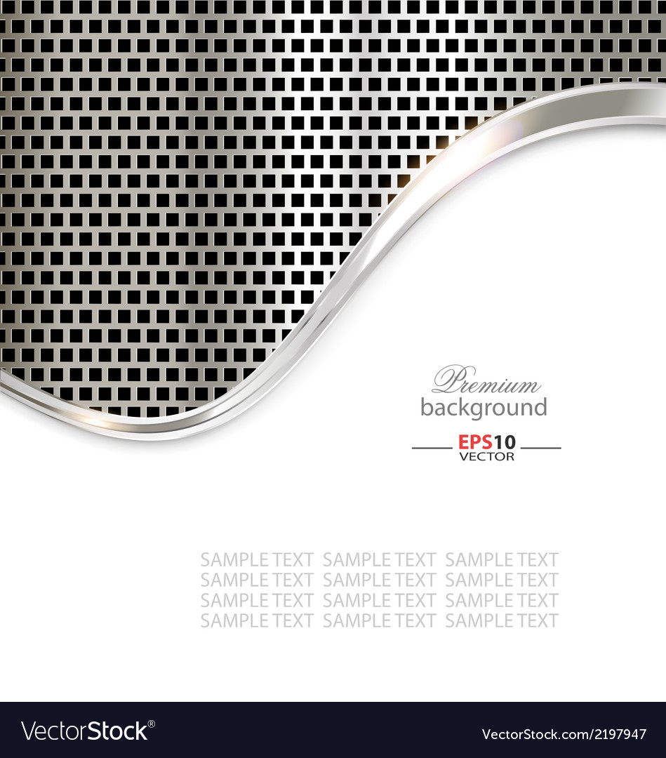 Silver metal template background vector | Price: 1 Credit (USD $1)