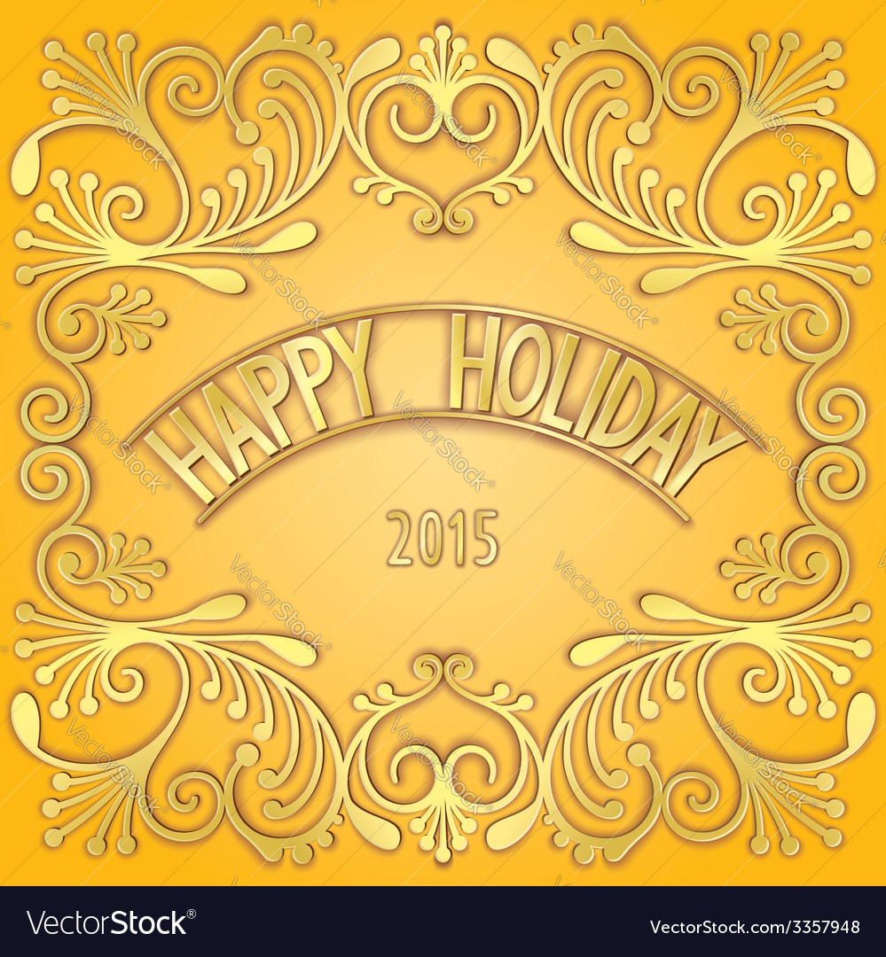 3d signboard - happy holiday vector | Price: 1 Credit (USD $1)