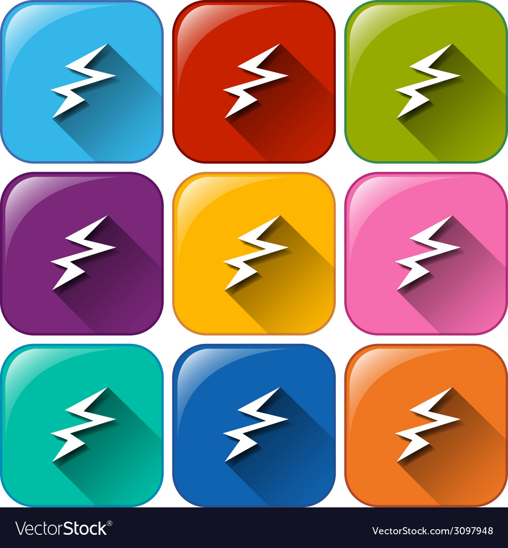 Buttons with charging battery icons vector | Price: 1 Credit (USD $1)