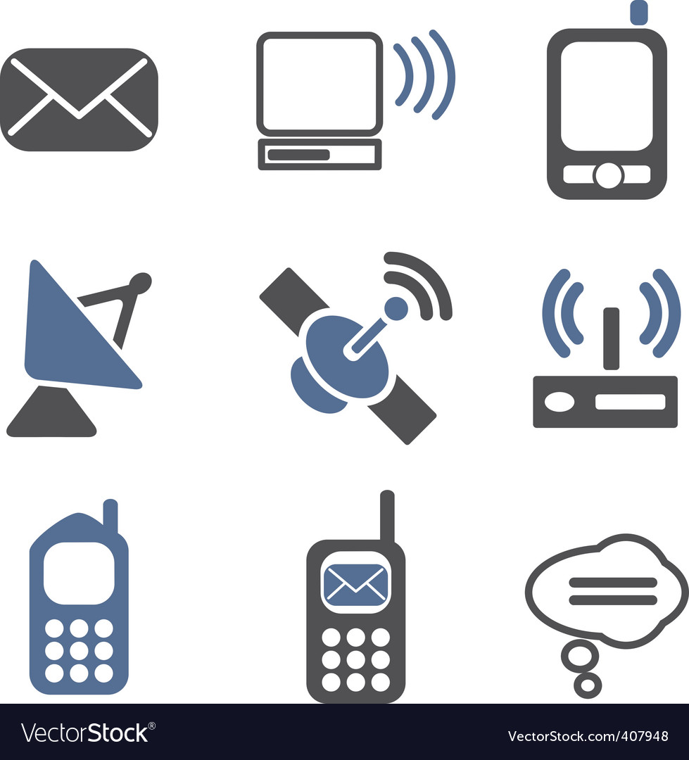 Communication signs vector | Price: 1 Credit (USD $1)