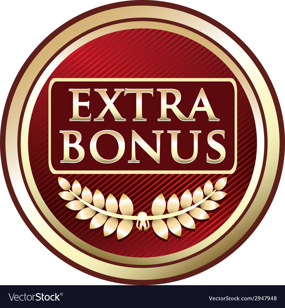 Extra bonus red label vector | Price: 1 Credit (USD $1)