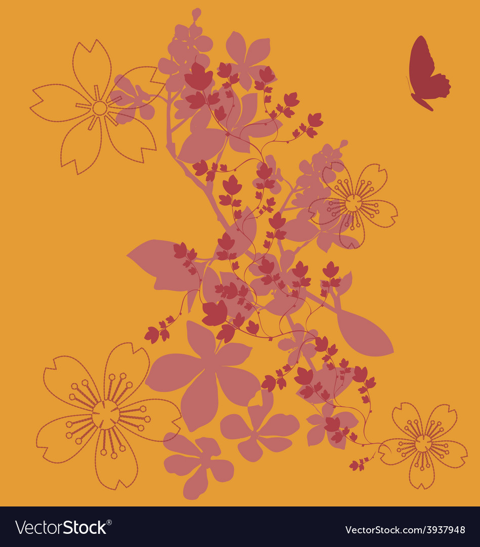 Flowers fashion print vector | Price: 1 Credit (USD $1)