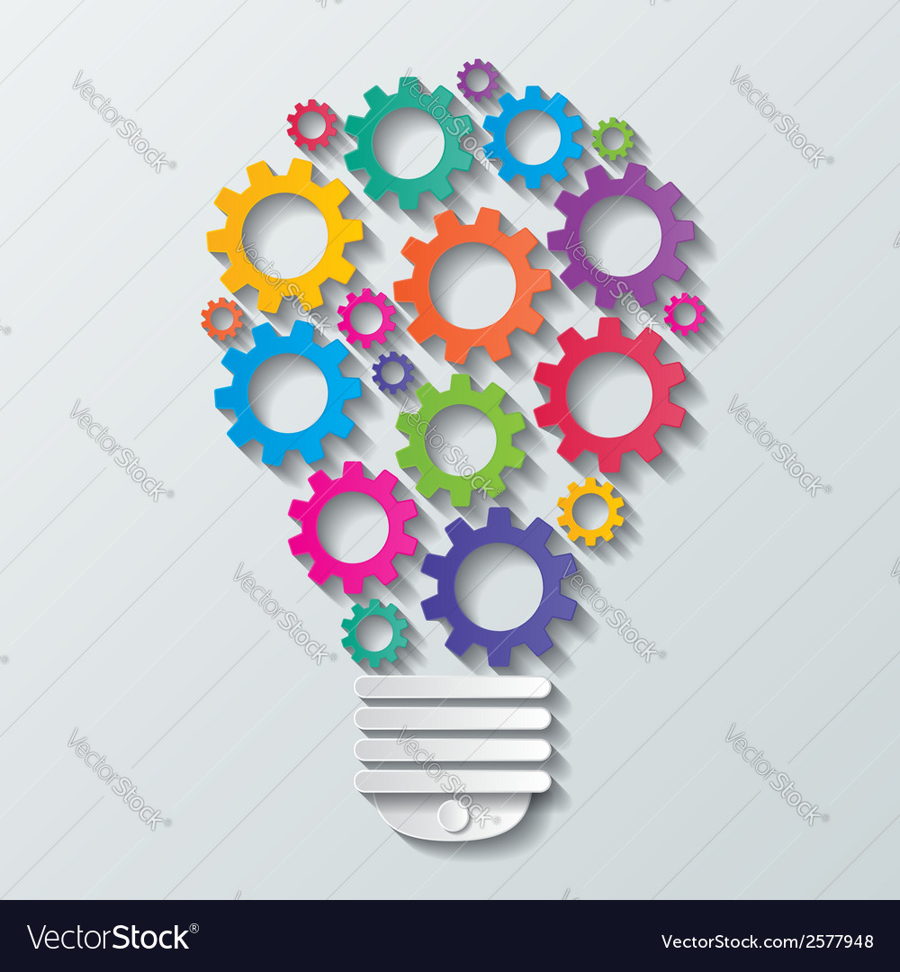 Gear bulb vector | Price: 1 Credit (USD $1)