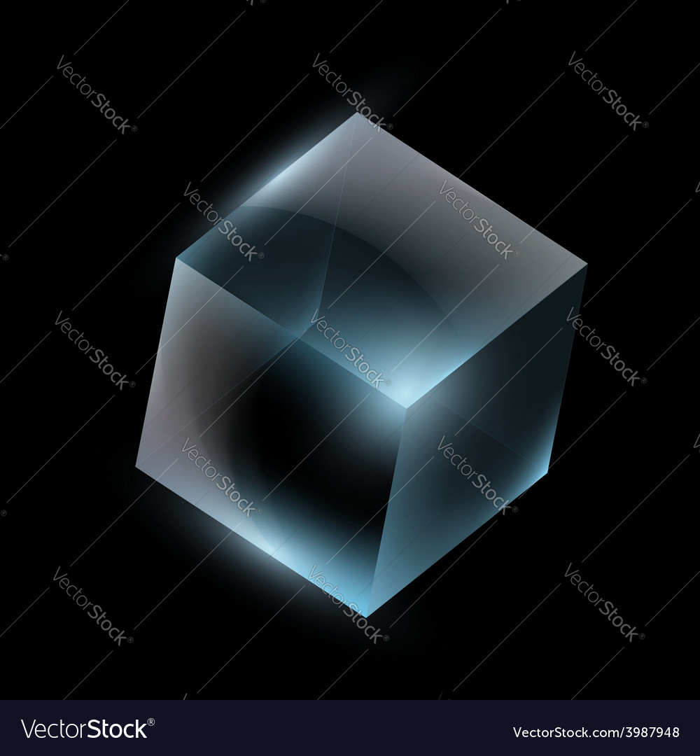 Glass cube vector | Price: 1 Credit (USD $1)