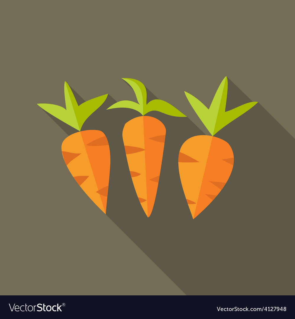 Natural spring carrots vector | Price: 1 Credit (USD $1)