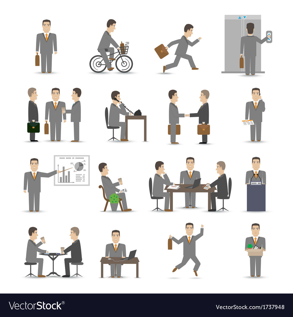 Office people set vector | Price: 1 Credit (USD $1)