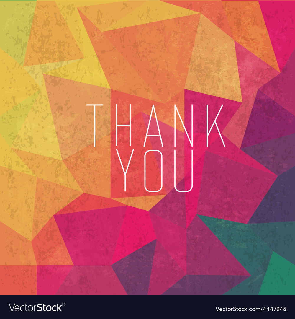 Retro thank you card vector | Price: 1 Credit (USD $1)