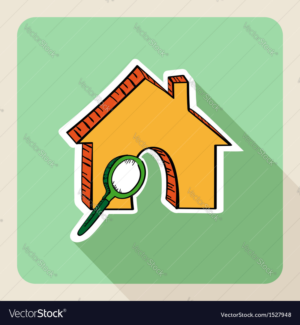 Sketch style real estate search concept vector | Price: 1 Credit (USD $1)
