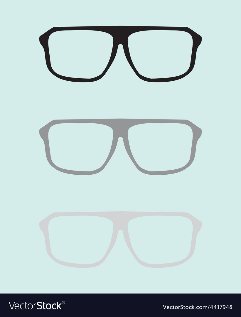 Teacher glasses black and grey on blue background vector | Price: 1 Credit (USD $1)