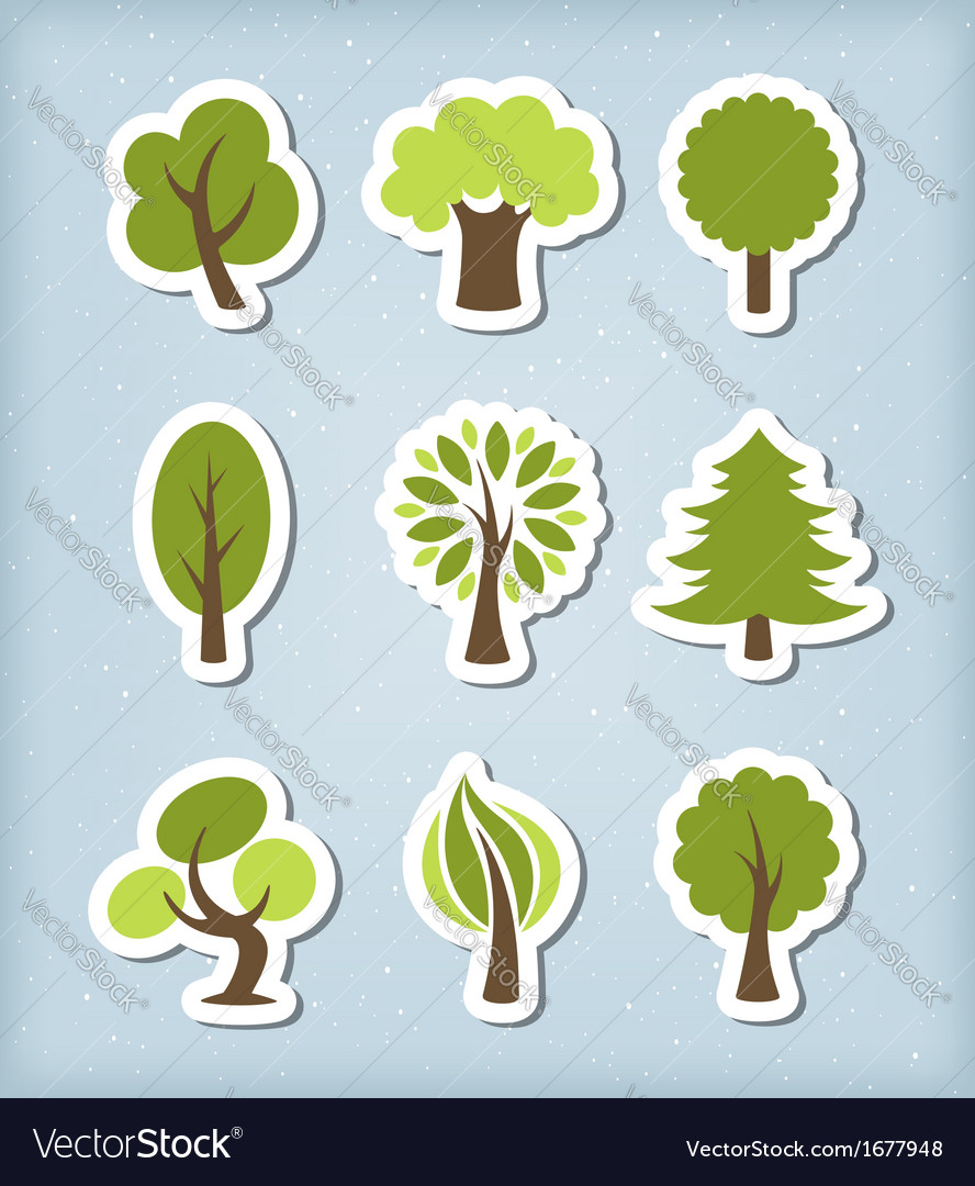 Tree icons vector | Price: 1 Credit (USD $1)
