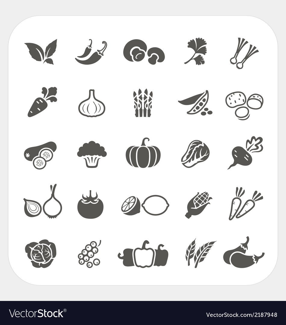 Vegetable icons set vector | Price: 1 Credit (USD $1)