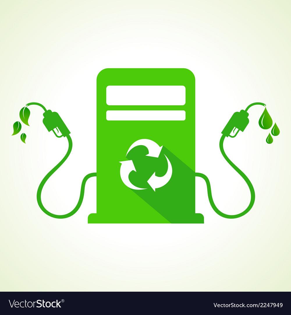 Bio fuel concept with petrol pump machine vector | Price: 1 Credit (USD $1)