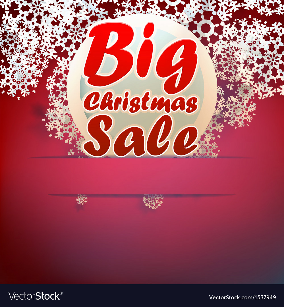 Christmas big sale template vector | Price: 1 Credit (USD $1)