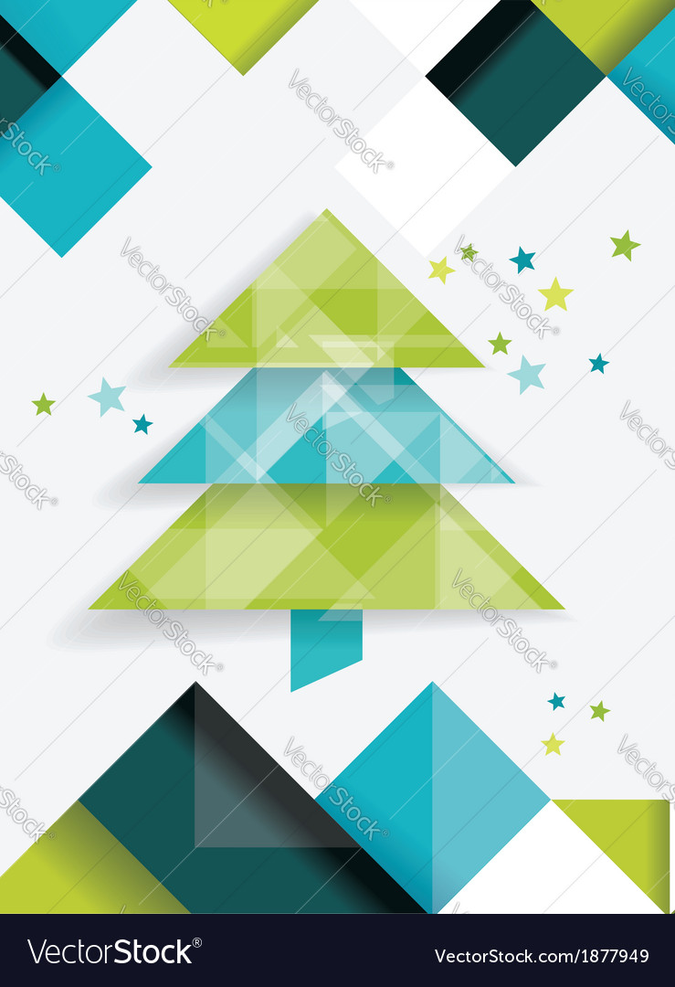 Christmas tree and decorations on winter vector   Price: 1 Credit (USD $1)