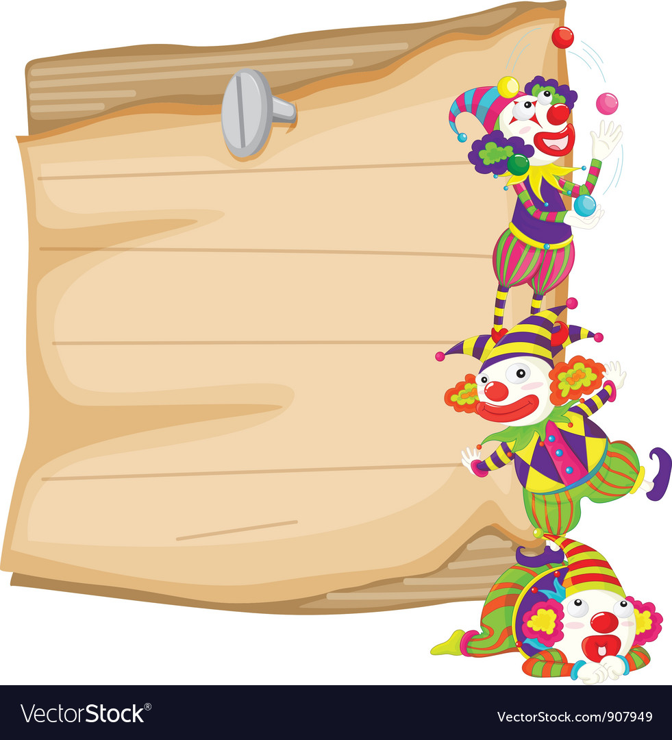 Clown and paper vector | Price: 3 Credit (USD $3)