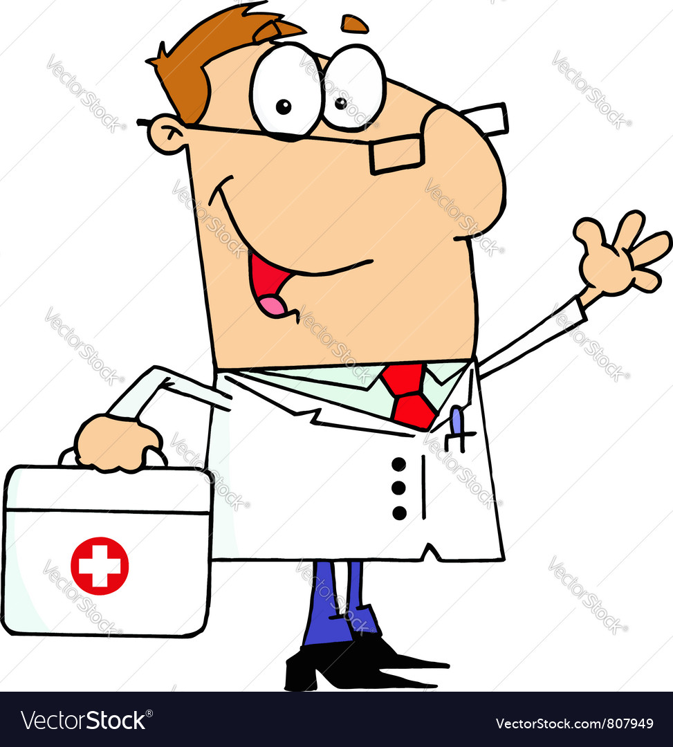 Doctor man carrying his first aid bag vector | Price: 1 Credit (USD $1)