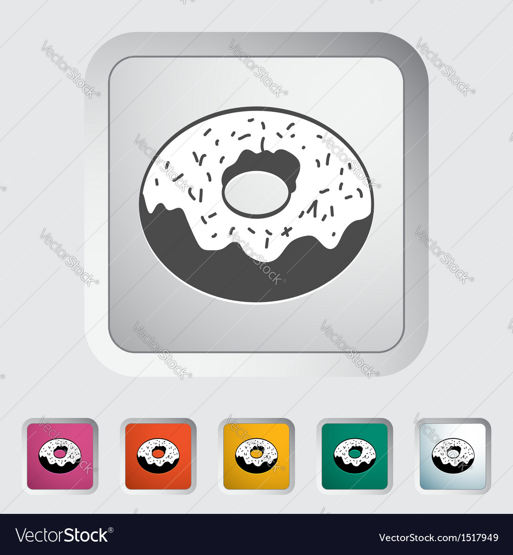 Donut 5 vector | Price: 1 Credit (USD $1)