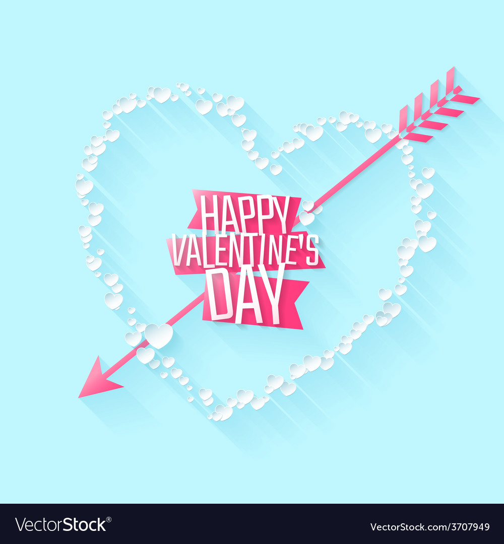 Happy valentines day greeting or invitation card vector | Price: 1 Credit (USD $1)