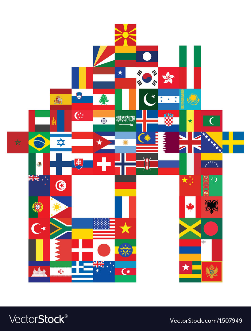 House made of flags vector | Price: 1 Credit (USD $1)