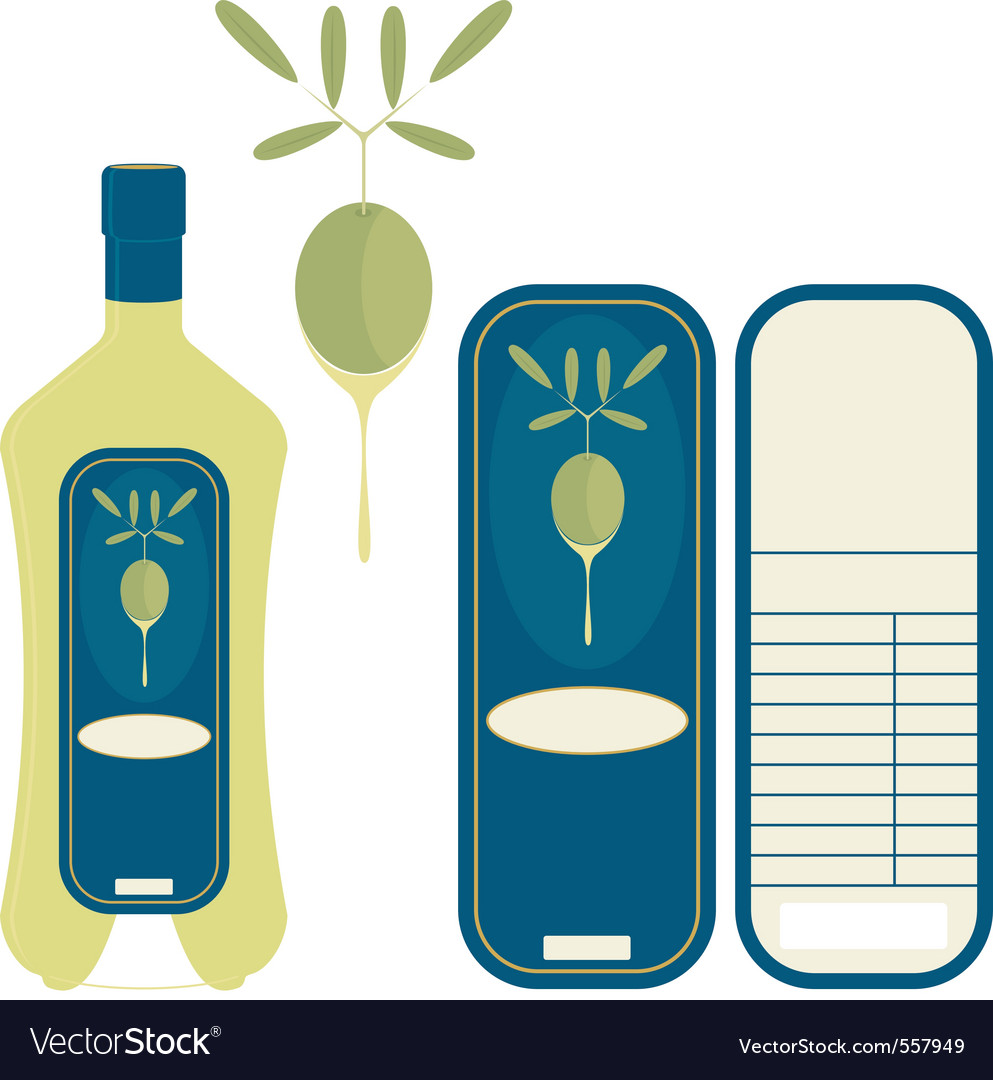 Label olive oil vector | Price: 1 Credit (USD $1)