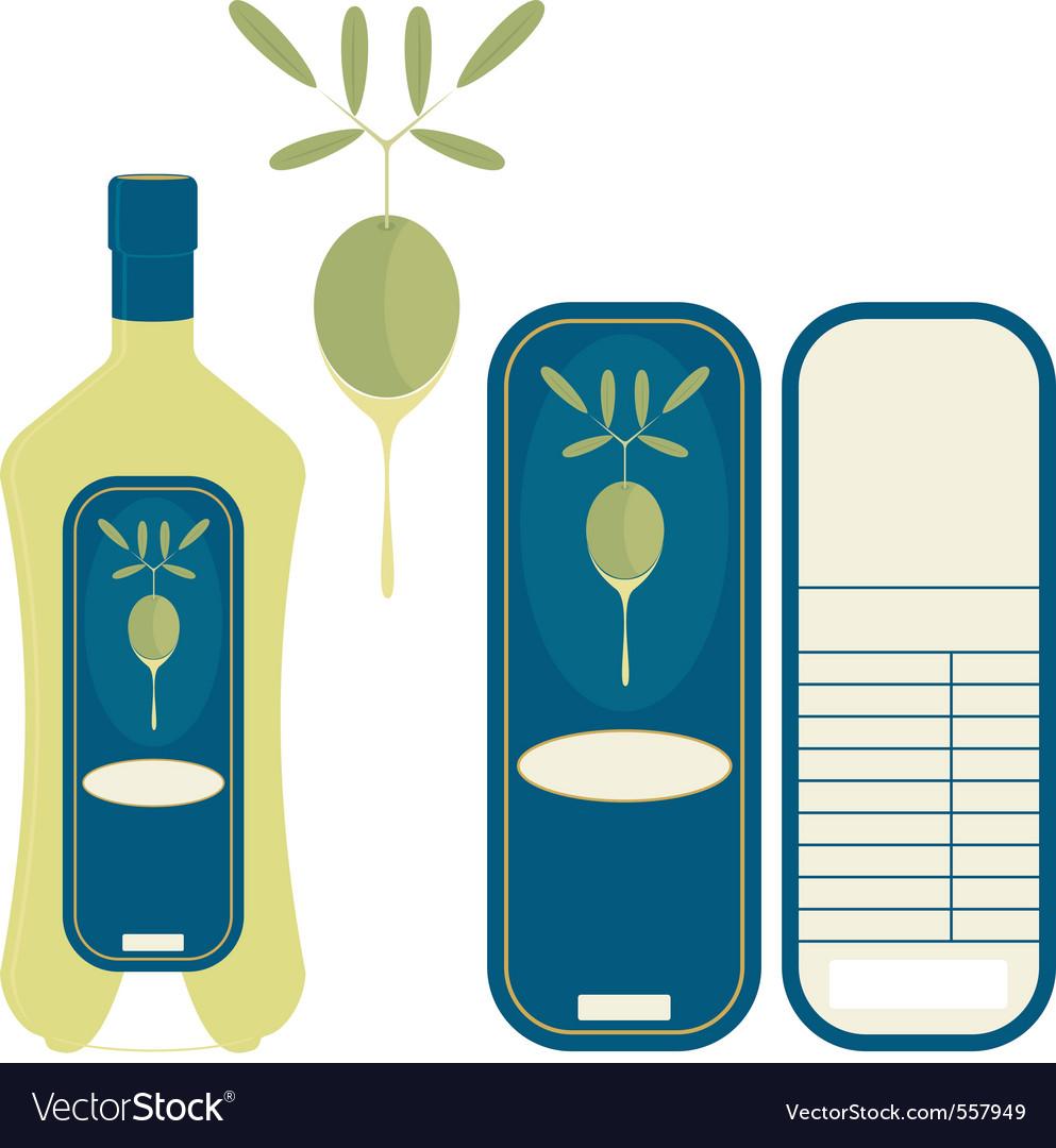 Label olive oil vector | Price: 1 Credit (USD $1)