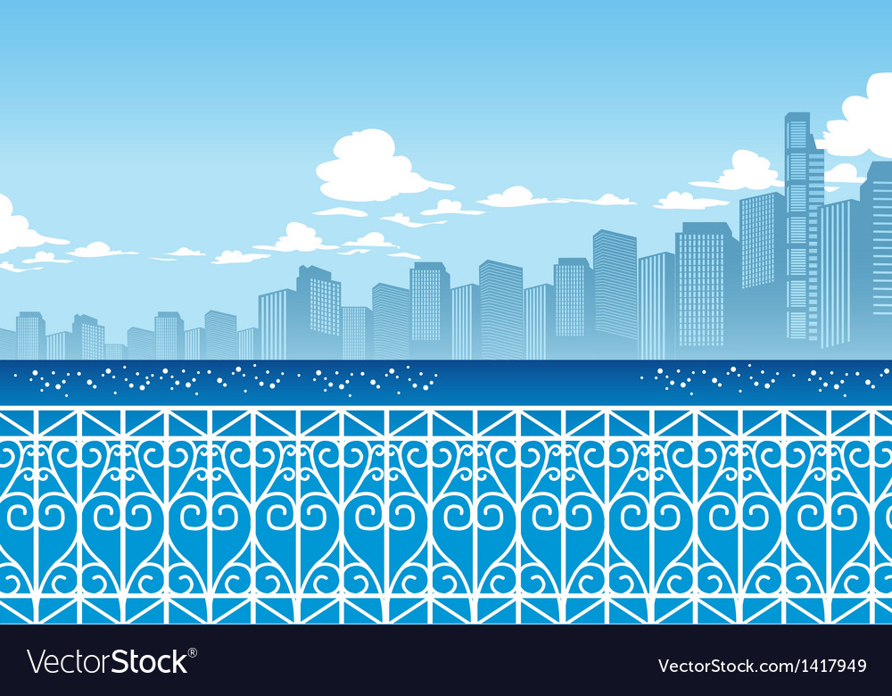 Seaside cityscape background vector | Price: 1 Credit (USD $1)