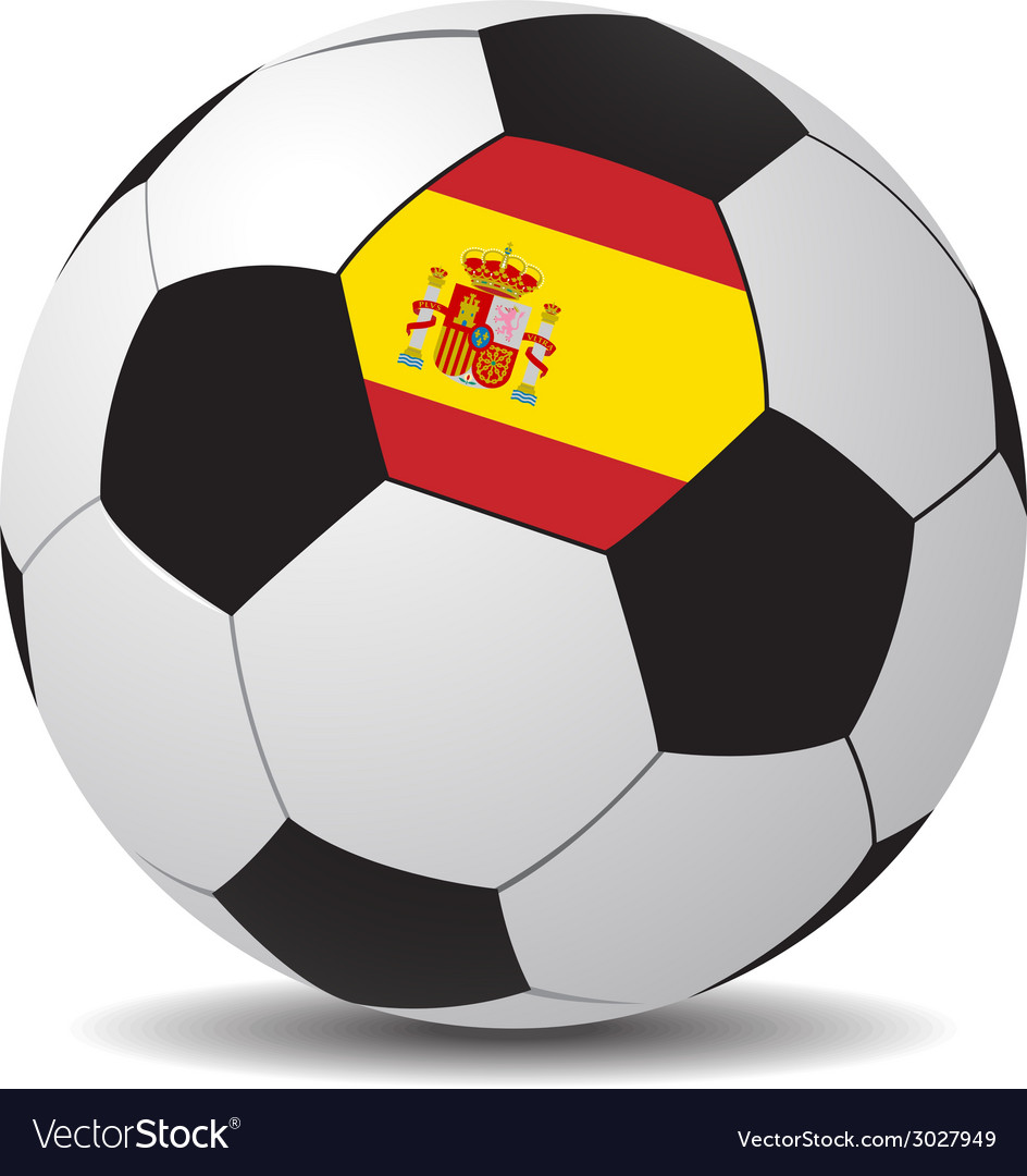 Soccer ball with the flag of spain vector | Price: 1 Credit (USD $1)